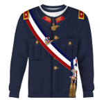 Gearhomies Unisex Sweatshirt Augusto Pinochet 3D Apparel