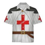 Gearhomies Unisex Hawaiian Shirt Hugues de Payens Historical 3D Apparel