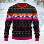 Merry Christmas Gearhomies Unisex Ugly Christmas Sweater Lesbian Flag 3D Apparel
