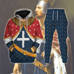 Gearhomies Tracksuit Hoodies Pullover Sweatshirt Richard I of England The Lionhearted Historical 3D Apparel