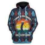 Gearhomies Unisex Tops Pullover Sweatshirt  Papa Is My Name Golf Is My Game 3D Apparel