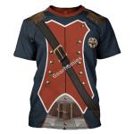 Gearhomies Unisex T-Shirt Napoleon Infantryman 3D Apparel