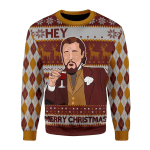 Merry Christmas Gearhomies Unisex Christmas Sweater Hey ... Merry Christmas Custom Name 3D Apparel
