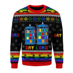 Merry Christmas Gearhomies Unisex Christmas Sweater Gay Lord 3D Apparel