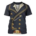 Gearhomies Unisex T-Shirt Marquis de Lafayette 3D Apparel
