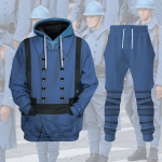 Gearhomies Tracksuit Hoodies Pullover Sweatshirt World War 1  French Soldiers  Historical 3D Apparel