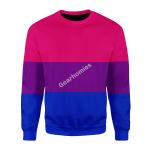 Merry Christmas Gearhomies Unisex Christmas Sweater Bisexual Flag