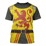 Gearhomies Unisex T-Shirt Robert The Bruce 3D Apparel