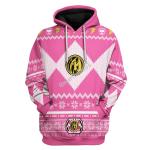 Gearhomies Unisex Tops Pullover Sweatshirt Pink Power Rangers 3D Apparel