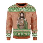Merry Christmas Gearhomies Unisex Christmas Sweater Saint John The Baptist 3D Apparel