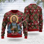Merry Christmas Gearhomies Unisex Ugly Christmas Sweater Saint Joseph 3D Apparel