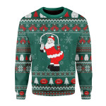 Merry Christmas Gearhomies Unisex Christmas Sweater Kim Kardashian Milk Santa 3D Apparel