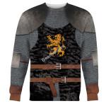 Gearhomies Unisex Sweatshirt Heraldic Knight Black 3D Apparel