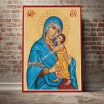 Gearhomies Canvas Blue Madonna Virgin Mary