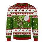 Merry Christmas Gearhomies Unisex Christmas Sweater Grinch Nurse 3D Apparel