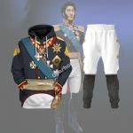 Gearhomies Tracksuit Hoodies Pullover Sweatshirt General Prince Pyotr Bagration Historical 3D Apparel