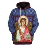 Gearhomies Unisex Tops Pullover Sweatshirt St. Archangel Michael 3D Apparel