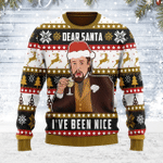 Merry Christmas Gearhomies Unisex Ugly Christmas Sweater Dear Santa I've Been Nice 3D Apparel