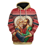 Gearhomies Unisex Tops Pullover Sweatshirt St. Apostles Peter and Paul 3D Apparel