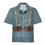 Gearhomies Unisex Hawaiian Shirt World War 1 Austro Hungarian Soldiers Historical 3D Apparel