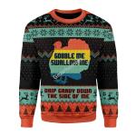 Merry Christmas Gearhomies Unisex Christmas Sweater Gobble Me Swallow Me Ugly Christmas