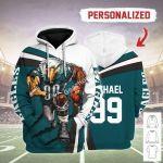 Gearhomies Personalized Unisex Tracksuit Hoodies Philadelphia Eagles Football Team 3D Apparel