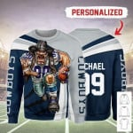 Gearhomies Personalized Unisex Sweatshirt Dallas Cowboys Football Team 3D Apparel