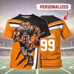 Gearhomies Personalized Unisex T-Shirt Cincinnati Bengals Football Team 3D Apparel