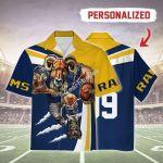 Gearhomies Personalized Unisex Hawaiian Shirt Los Angeles Rams Football Team 3D Apparel