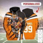 Gearhomies Personalized Unisex Tracksuit Hoodies Cincinnati Bengals Football Team 3D Apparel