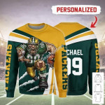 Gearhomies Personalized Unisex Sweatshirt Green Bay Packers Football Team 3D Apparel