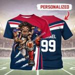 Gearhomies Personalized Unisex T-Shirt New England Patriots Football Team 3D Apparel