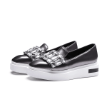 Casual Rhinestone Platform Loafer Shoes