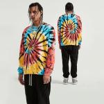 Handmade Colorful Spiral Tie-dye Sweatshirt