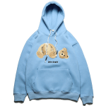 Bear Embroidery Casual Hooded Sweater