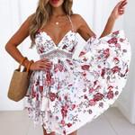 Halter Waist Lace Dress