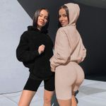 Hooded Long Sleeve Casual Sport  Sweater