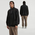 Stand Collar Drop Shoulder Coat
