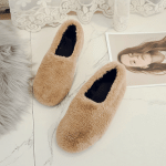 Outer Wearing Non-Slip Flat Fur Loafers