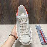Shoes PRADA Soft Calf white x red
