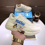 Gucci Shoes Men's Disney x Gucci Donald Duck Rhyton Sneaker In White Leather