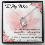 To My Sweet Wife Forever Love Necklace Wedding Anniversary Gift