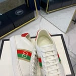 Gucci  WMNS Ace 'White red gold' Sneakers/Shoes
