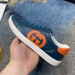 Shoes Gucci  ACE blue and orange logo