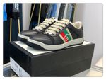 Gucci Screener Couple Model 2020 Classic Series Upgrade Gucci Towel Series Distressed Casual Small Dirty Shoes