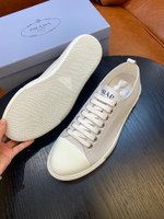 Shoes PRADA 2021 New Lace-up Casual light gray