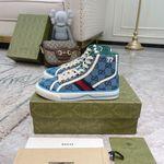 Shoes Gucci Tennis 1977 high top Sneaker blue monogram