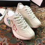 Gucci Ivory Rhyton Rainbow Glitter Sneakers shoes