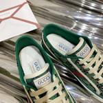 Shoes Gucci 1977 tennis sneaker green monogram