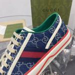 Gucci tennis shoes 1977 blue denim